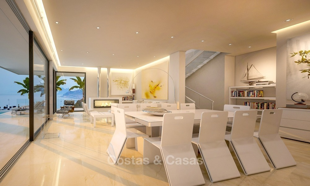 Second line beach, modern, contemporary designer villa for sale in Estepona, Costa del Sol 2074