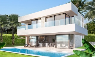 Second line beach, modern, contemporary designer villa for sale in Estepona, Costa del Sol 2075