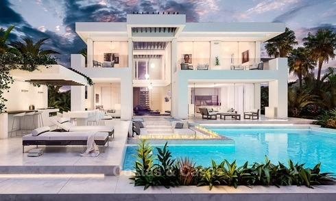 Modern, two contemporary designer villas for sale in Mijas - Costa del Sol 2076