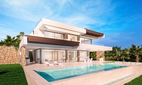 Modern Contemporary designer villa for sale with sea views in Benalmadena on the Costa del Sol 2106