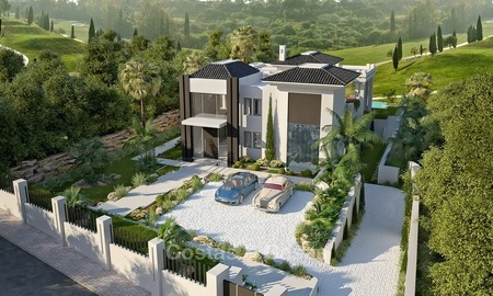 Elegant designer style villa for sale, frontline golf on a golf resort on the New Golden Mile, Marbella - Benahavis 2107