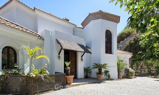 Elegant, Andalusian Style Villa in Gated Community with Sea- and Mountain views for sale in Benahavis, Marbella 5198