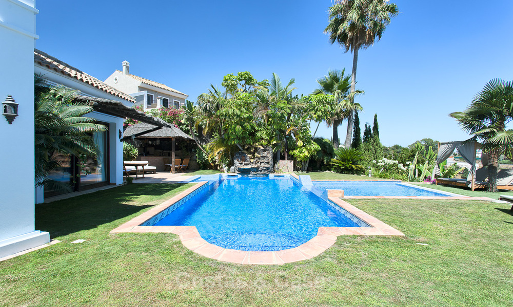 Elegant, Andalusian Style Villa in Gated Community with Sea- and Mountain views for sale in Benahavis, Marbella 5157