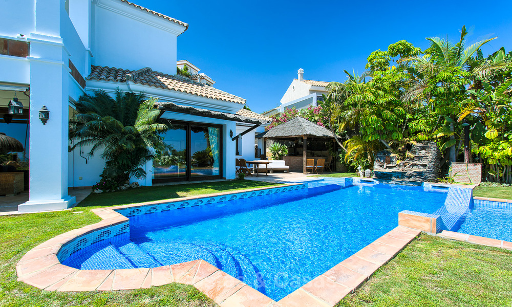 Elegant, Andalusian Style Villa in Gated Community with Sea- and Mountain views for sale in Benahavis, Marbella 5159