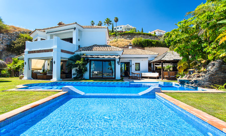 Elegant, Andalusian Style Villa in Gated Community with Sea- and Mountain views for sale in Benahavis, Marbella 5160