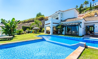 Elegant, Andalusian Style Villa in Gated Community with Sea- and Mountain views for sale in Benahavis, Marbella 5161