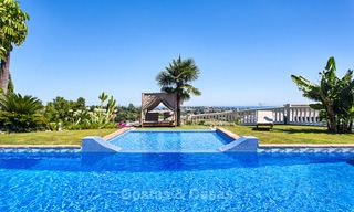 Elegant, Andalusian Style Villa in Gated Community with Sea- and Mountain views for sale in Benahavis, Marbella 5163