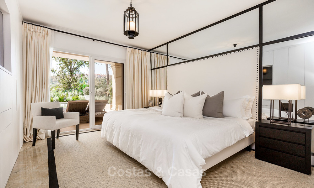 Frontline golf, modern renovated luxury apartment for sale in Nueva Andalucia - Marbella 2909