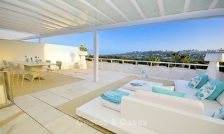 Frontline golf, modern, spacious, luxury penthouse for sale in Nueva Andalucia - Marbella 2546
