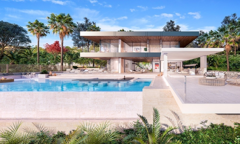 Modern Contemporary, Mediterranean lifestyle villa with sea view in Gated community for sale in Benahavis - Marbella 2721