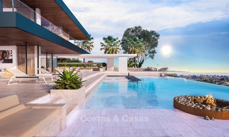 Modern Contemporary, Mediterranean lifestyle villa with sea view in Gated community for sale in Benahavis - Marbella 2724