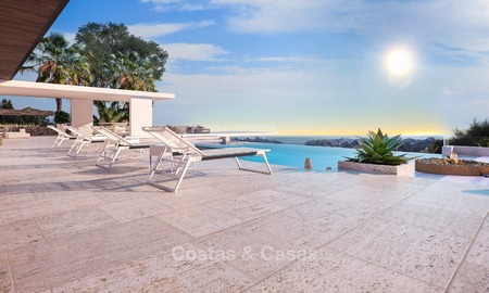 Modern Contemporary, Mediterranean lifestyle villa with sea view in Gated community for sale in Benahavis - Marbella 2725