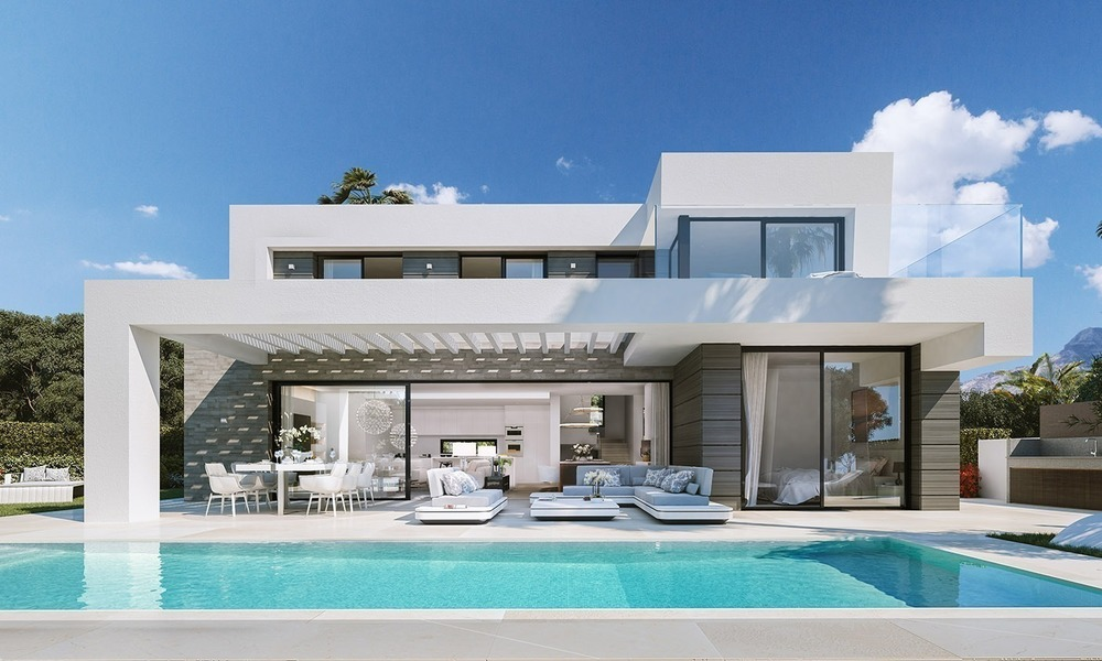 Contemporary, Modern Villas with Sea Views for sale at Walking distance to the Beach and Marina - Marbella East - Mijas 2827
