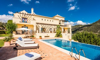 Classical Style Villa for sale with Sea- and Mountain views, located in Exclusive Golf and Country Club in Benahavis, Marbella 3155