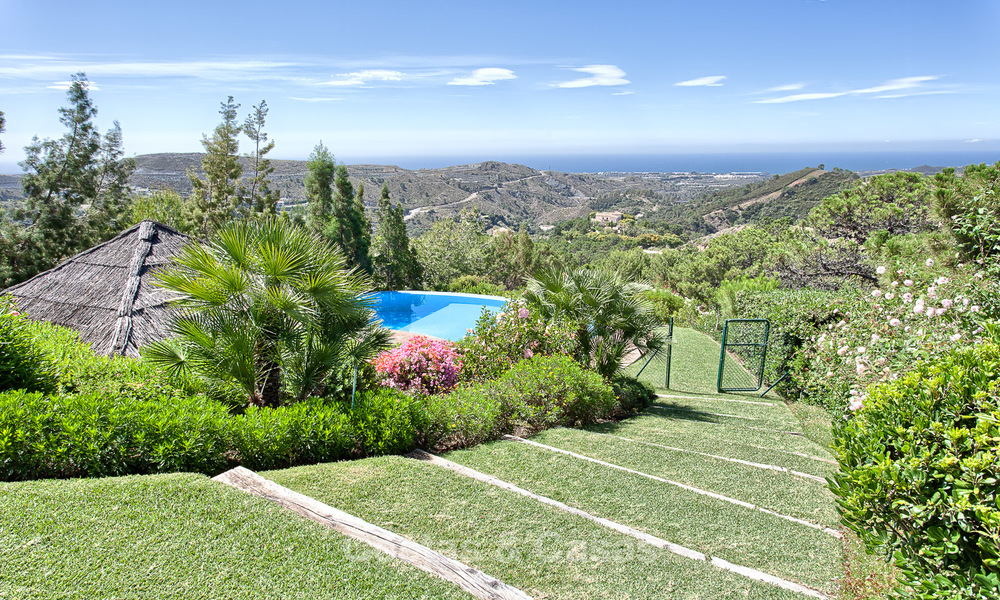 Spanish style luxury Villa with Panoramic views for sale set in a Luxurious Gated Golf Resort in Benahavis - Marbella 3175