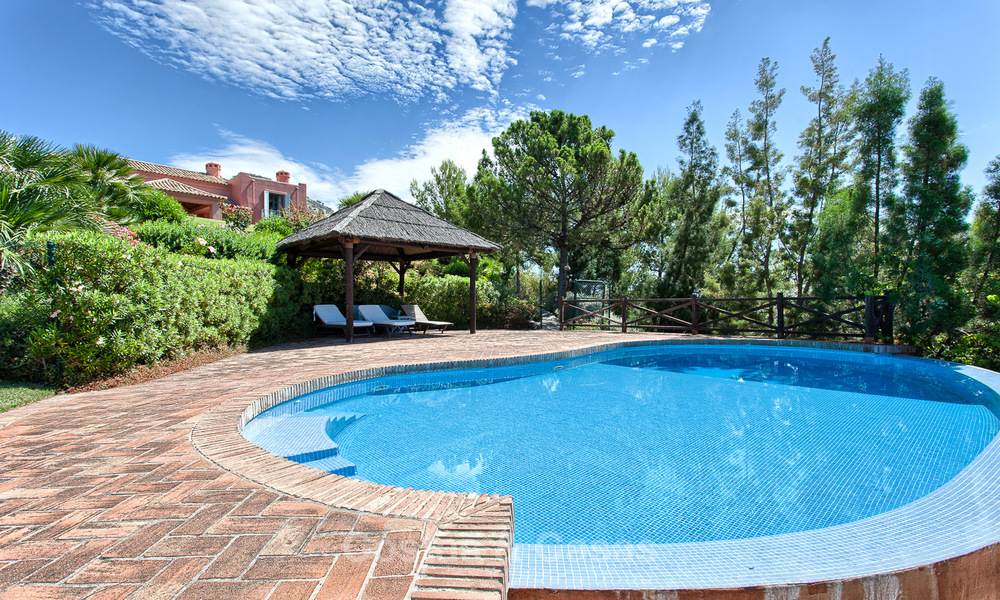 Spanish style luxury Villa with Panoramic views for sale set in a Luxurious Gated Golf Resort in Benahavis - Marbella 3176
