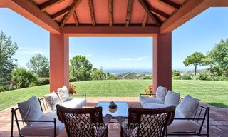 Spanish style luxury Villa with Panoramic views for sale set in a Luxurious Gated Golf Resort in Benahavis - Marbella 3179