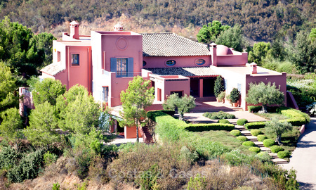 Spanish style luxury Villa with Panoramic views for sale set in a Luxurious Gated Golf Resort in Benahavis - Marbella 3171