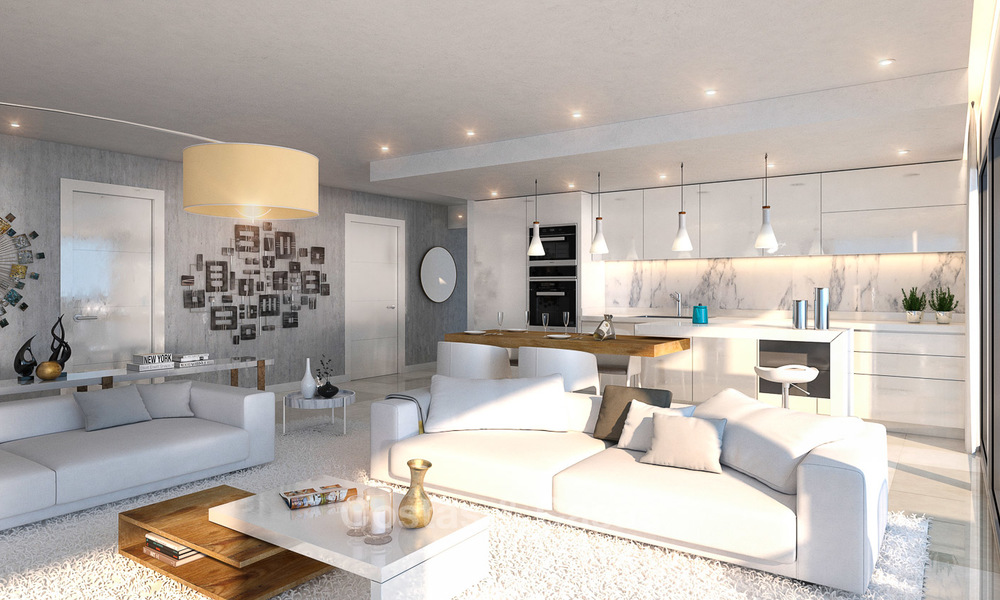 Brand new modern apartments for sale on the New Golden Mile, between Marbella and Estepona 3391