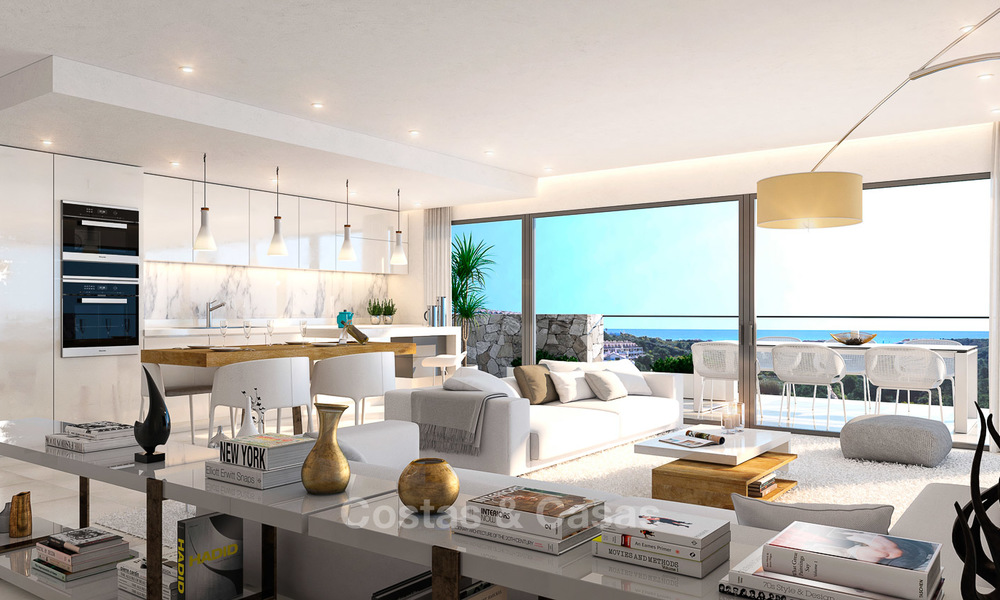 Brand new modern apartments for sale on the New Golden Mile, between Marbella and Estepona 3397