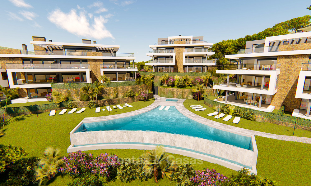 Brand new modern apartments for sale on the New Golden Mile, between Marbella and Estepona 3400
