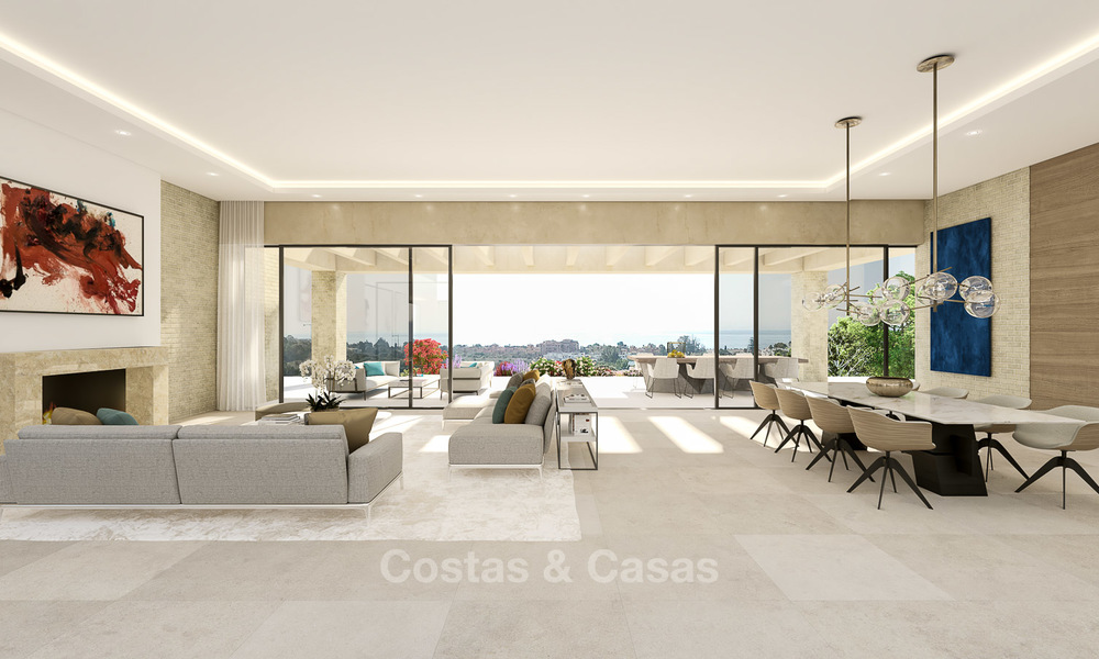 Spectacular and luxurious new built villa for sale, in an exclusive golf resort, first line golf in Benahavis - Marbella 3489