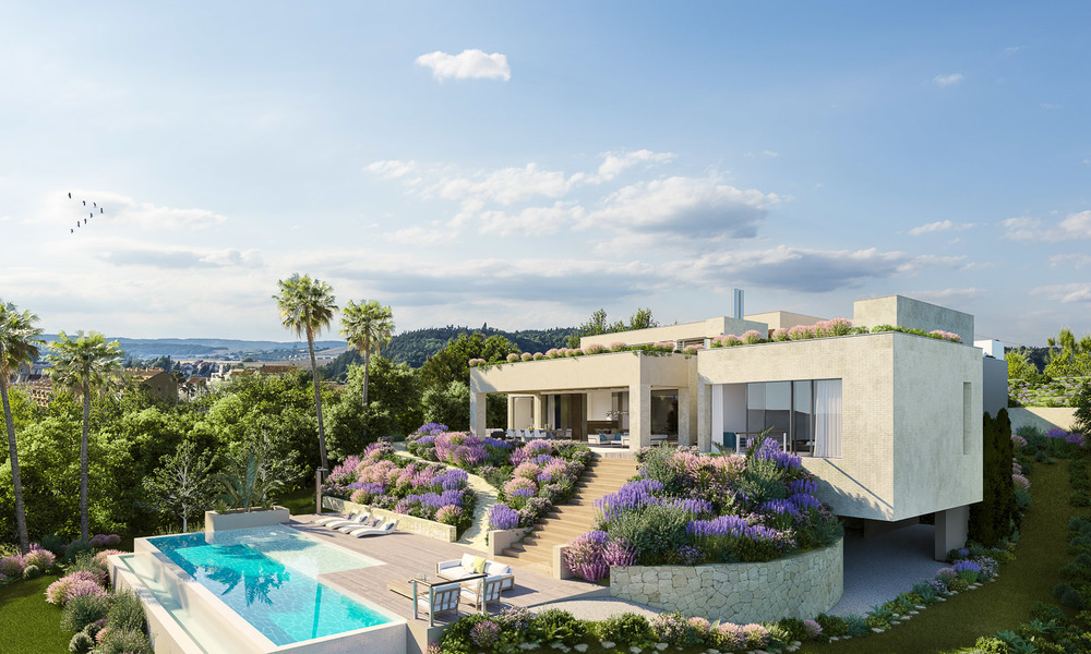 Spectacular and luxurious new built villa for sale, in an exclusive golf resort, first line golf in Benahavis - Marbella 3484