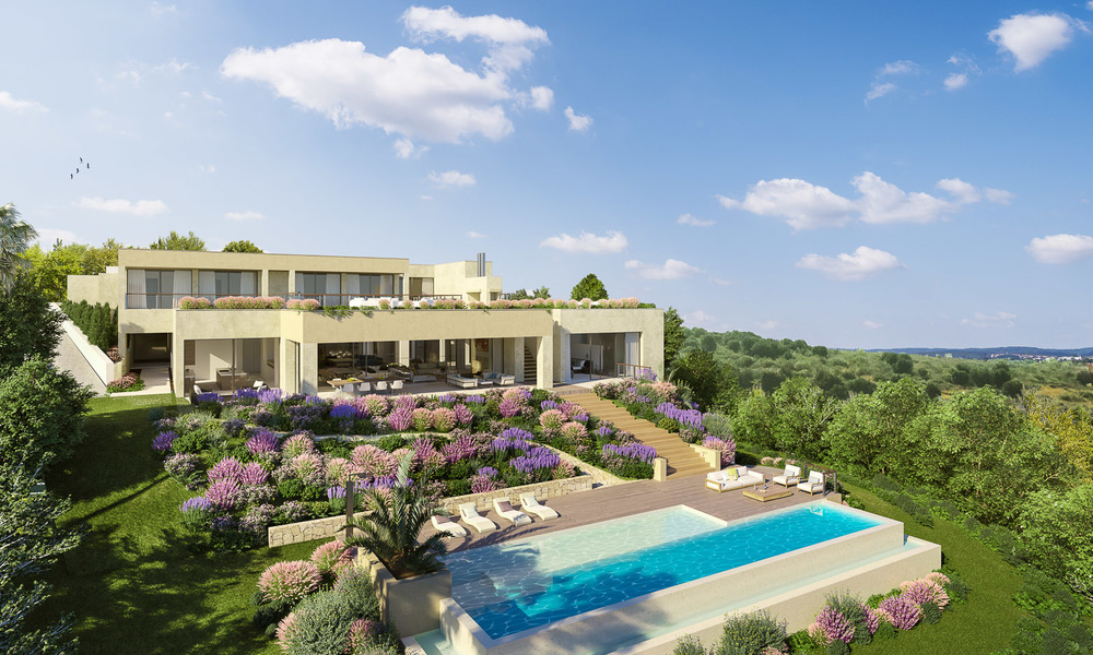 Spectacular and luxurious new built villa for sale, in an exclusive golf resort, first line golf in Benahavis - Marbella 3485