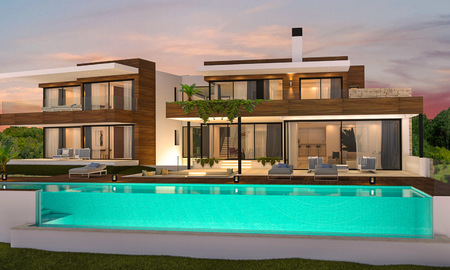 Luxury new built villa for sale, in an exclusive golf resort, front line golf in Benahavis, Marbella 3478