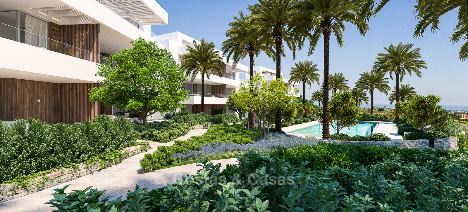 Brand new modern eco friendly apartments for sale Benahavis Marbella