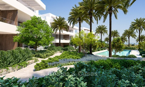 Brand new luxury and eco-friendly apartments with seaviews for sale in a boutique innovative project in Benahavis, Marbella 3557