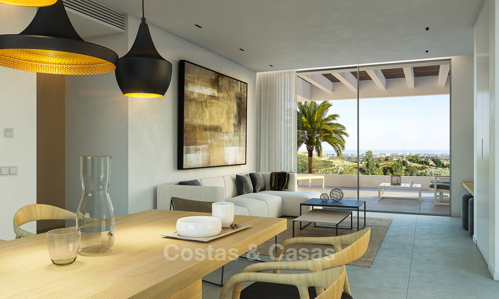 Brand new luxury and eco-friendly apartments with seaviews for sale in a boutique innovative project in Benahavis - Marbella 3558