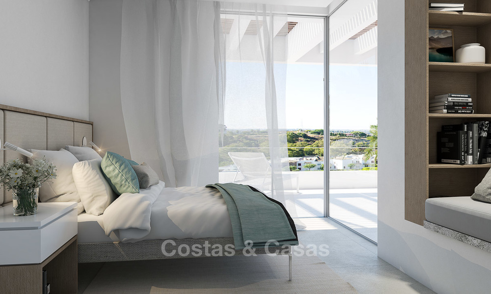 Brand new luxury and eco-friendly apartments with seaviews for sale in a boutique innovative project in Benahavis - Marbella 3548