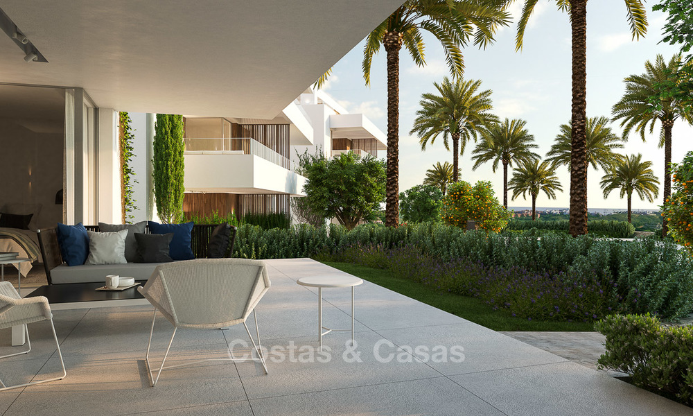 Brand new luxury and eco-friendly apartments with seaviews for sale in a boutique innovative project in Benahavis - Marbella 3550