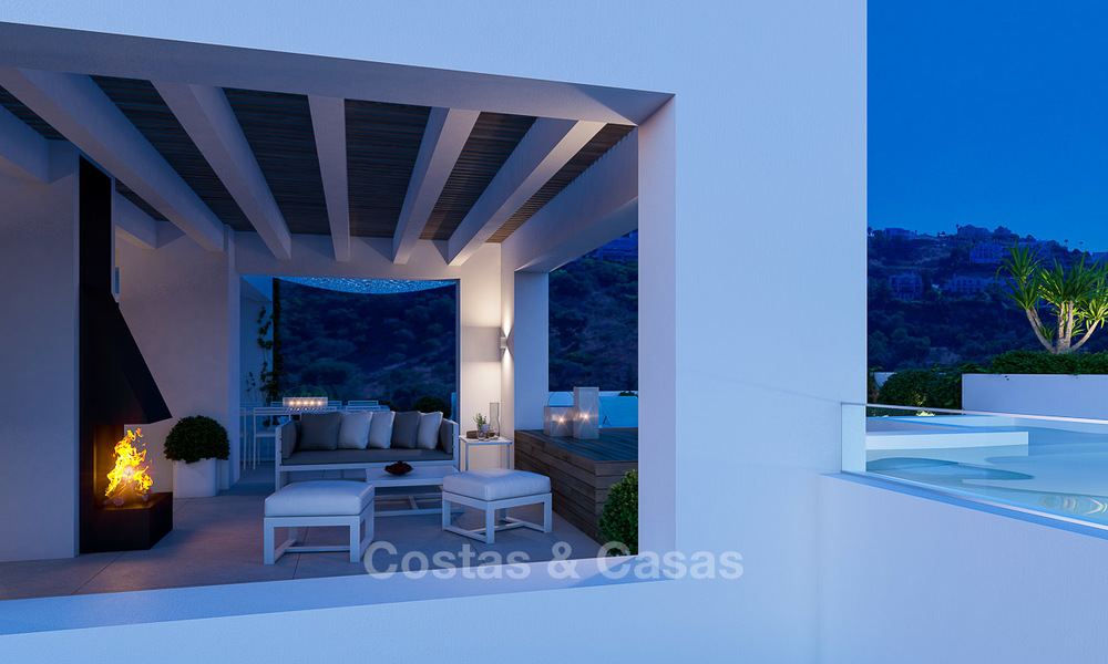 Brand new luxury and eco-friendly apartments with seaviews for sale in a boutique innovative project in Benahavis - Marbella 3552