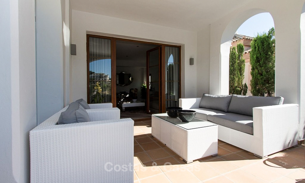Ready to move in new villa for sale, first line golf in a gated golf resort, New Golden Mile, Marbella - Estepona 3533