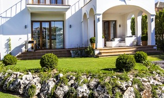 Ready to move in new villa for sale, first line golf in a gated golf resort, New Golden Mile, Marbella - Estepona 3541