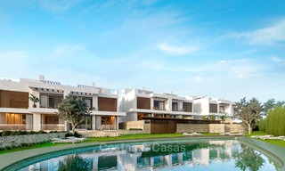 New contemporary semi-detached houses for sale in a boutique development, first line golf in a gated resort, Marbella 3704