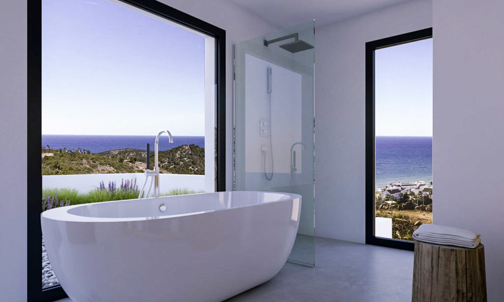 Two luxury and modern contemporary eco-friendly new villas for sale in a boutique development, Casares - Estepona 3567