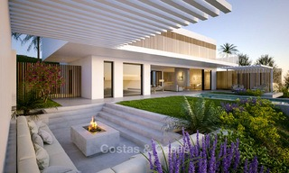 Two luxury and modern contemporary eco-friendly new villas for sale in a boutique development, Casares - Estepona 3568