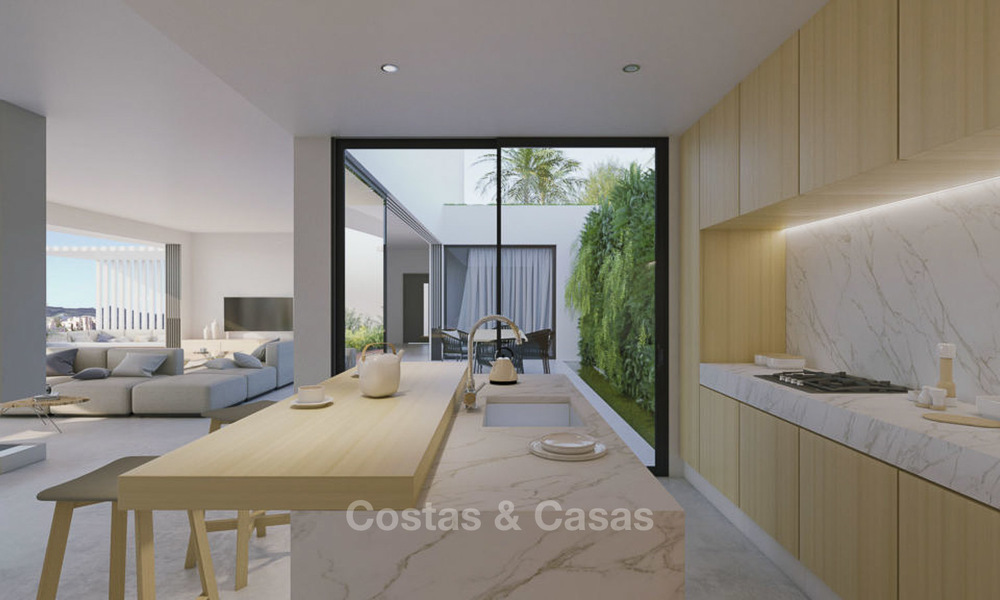 Two luxury and modern contemporary eco-friendly new villas for sale in a boutique development, Casares - Estepona 3569