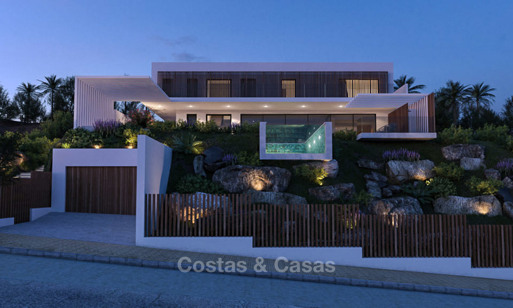 Two luxury and modern contemporary eco-friendly new villas for sale in a boutique development, Casares - Estepona 3564
