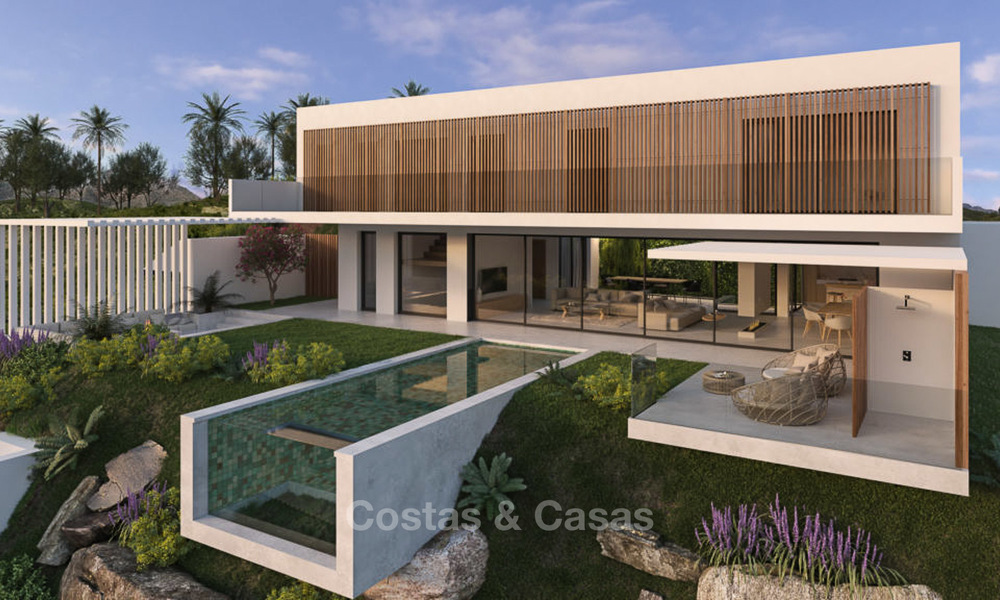 Two luxury and modern contemporary eco-friendly new villas for sale in a boutique development, Casares - Estepona 3566