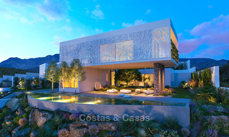 Two luxury and modern contemporary eco-friendly new villas for sale in a boutique development, Casares - Estepona 3561