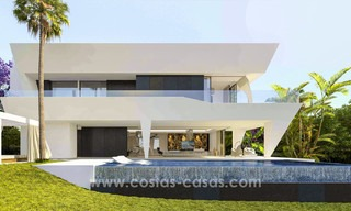 New, 'design your own', contemporary luxury villas for sale in an innovative project, golf area with golf and sea views in Estepona - Marbella 3617