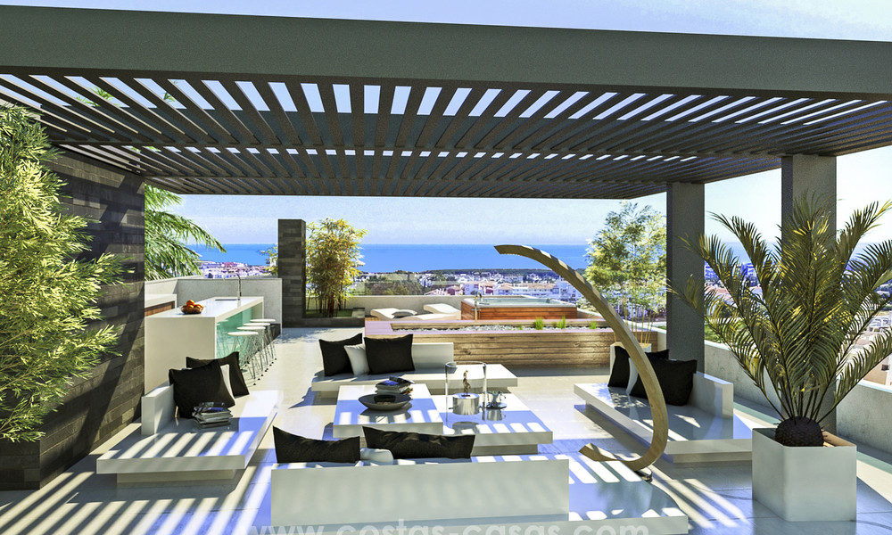 New, 'design your own', contemporary luxury villas for sale in an innovative project, golf area with golf and sea views in Estepona - Marbella 3618