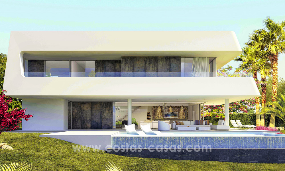 New, 'design your own', contemporary luxury villas for sale in an innovative project, golf area with golf and sea views in Estepona - Marbella 3619