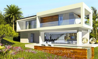 New, 'design your own', contemporary luxury villas for sale in an innovative project, golf area with golf and sea views in Estepona - Marbella 3621