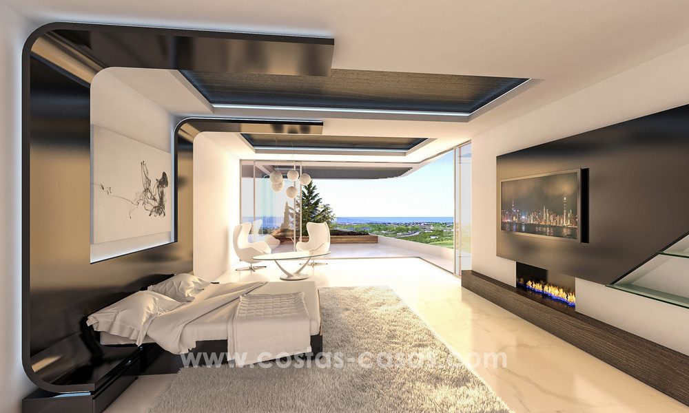 New, 'design your own', contemporary luxury villas for sale in an innovative project, golf area with golf and sea views in Estepona - Marbella 3622