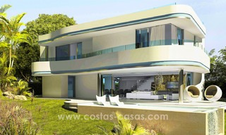 New, 'design your own', contemporary luxury villas for sale in an innovative project, golf area with golf and sea views in Estepona - Marbella 3623